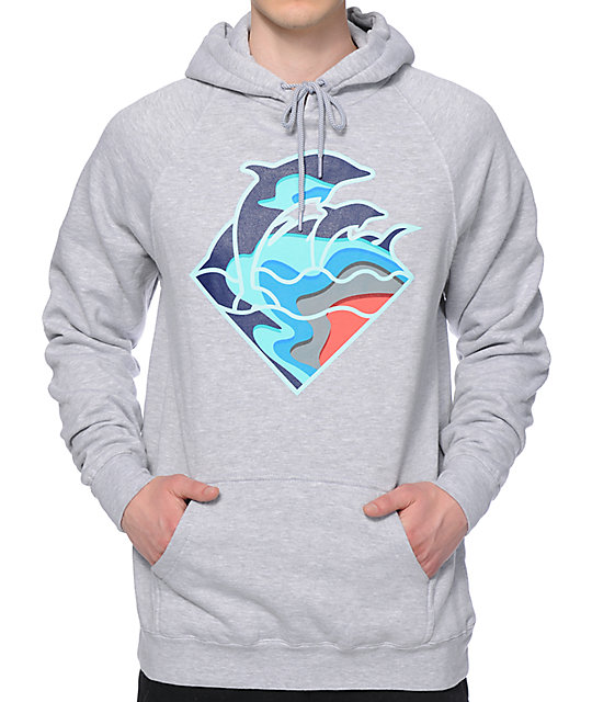 Dolphin Fall Waves Hoodie
