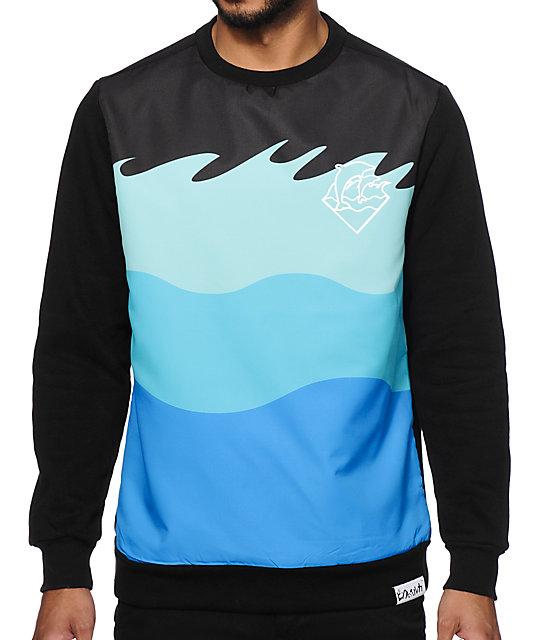 Pink Dolphin Ocean Crew Neck Sweatshirt at Zumiez : PDP