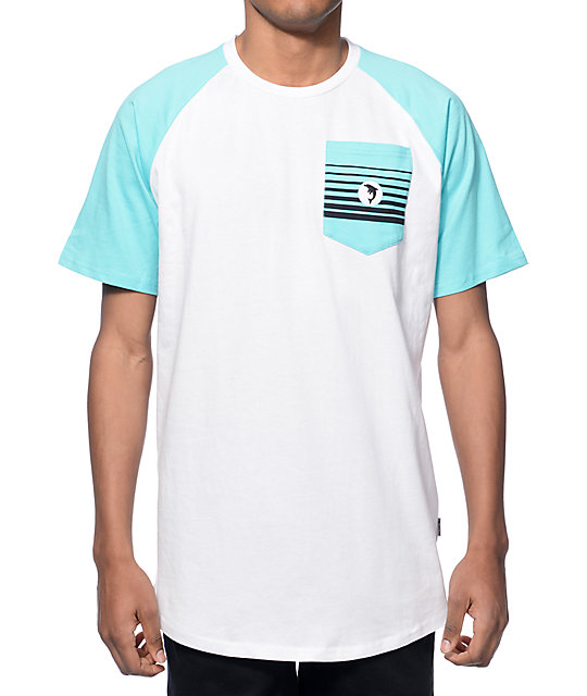 Pink Dolphin Pit Crew White Pocket T-Shirt