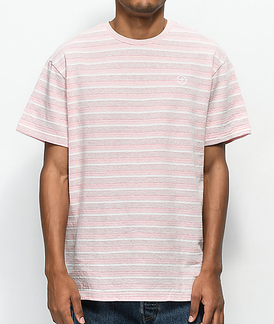 Pink Dolphin Plus Stripe Pink T Shirt by Pink Dolphin