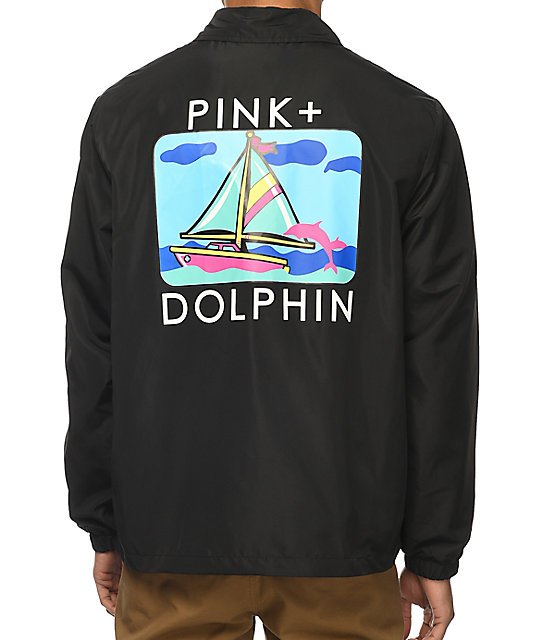 Pink Dolphin Portrait Three Coaches Jacket