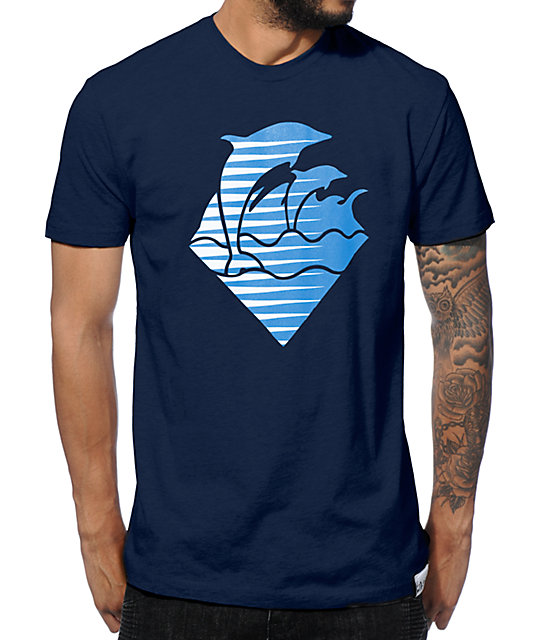 Pink Dolphin Speed Wave T-Shirt