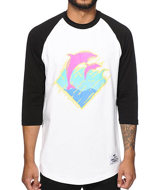 Pink Dolphin Static Waves Baseball T-Shirt at Zumiez : PDP