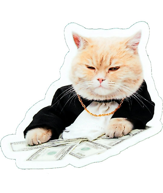 Pizzaslime Gangsta Money Cat Sticker