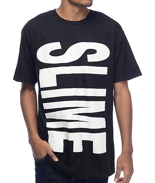 Pizzaslime Lil Slime Vertical Black T-Shirt