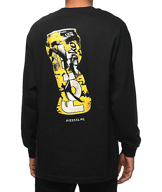 Pizzaslime X Four Loko Black Long Sleeve T-Shirt