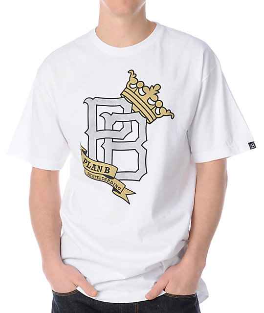 Plan B Ballpark White T-Shirt