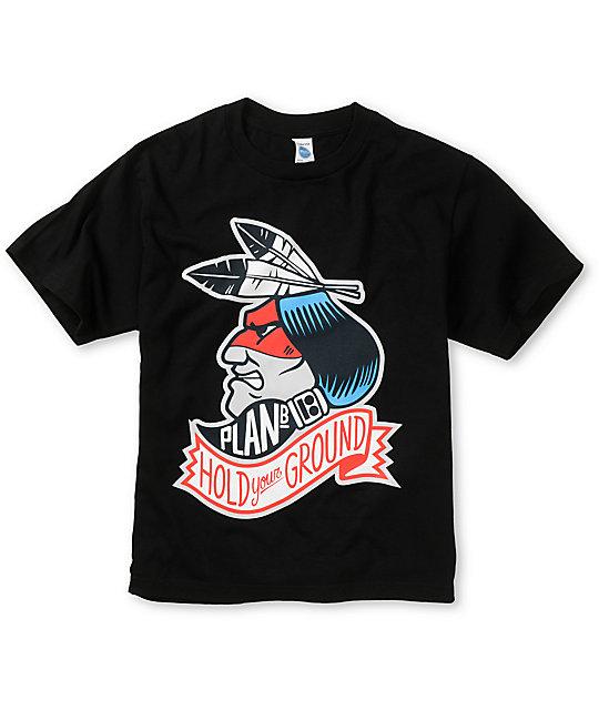 Plan B Boys Chief Black T-Shirt