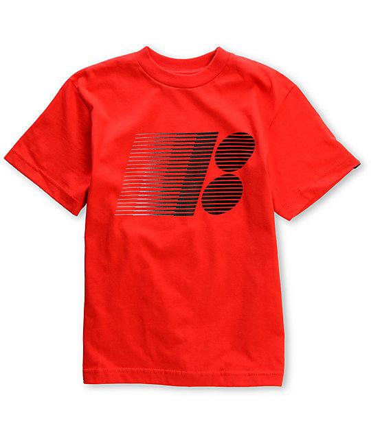 Plan B Boys Stars Gradient Red Skate T-Shirt
