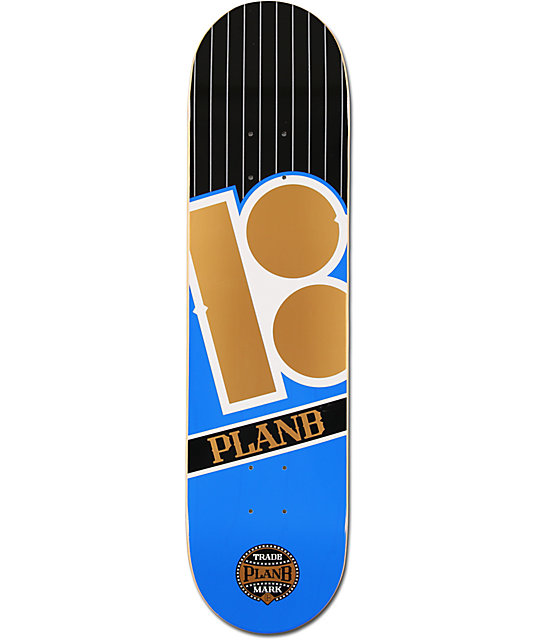 "Plan B Capital Team 8.0""  Skateboard Deck"