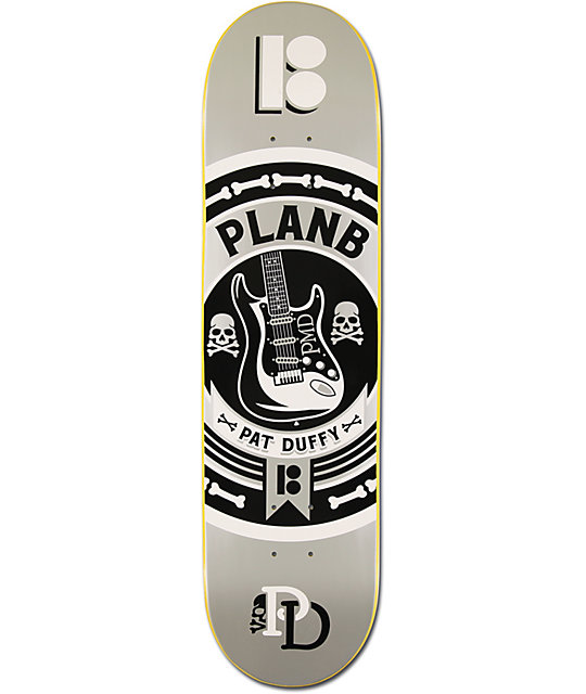 "Plan B Duffy Crest 2 8.0""  Skateboard Deck"