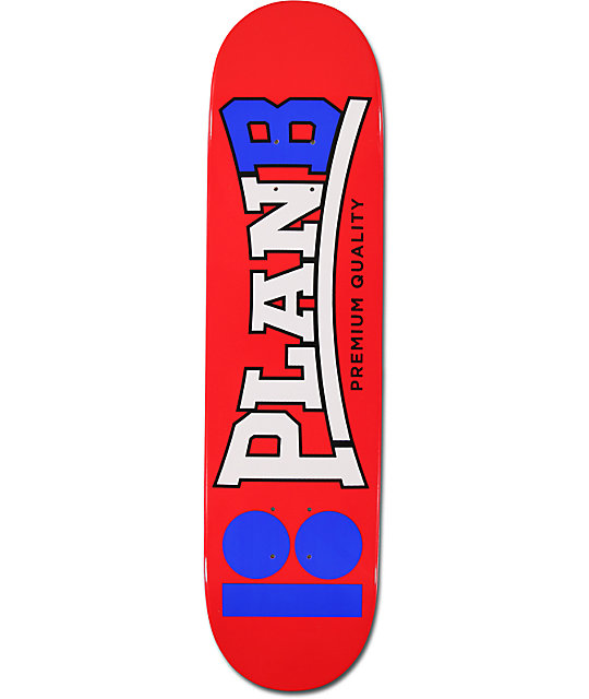 "Plan B KTFO 8.0""  Team Skateboard Deck"