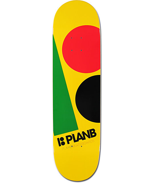 "Plan B Massive Rasta 8.25""  Skateboard Deck"