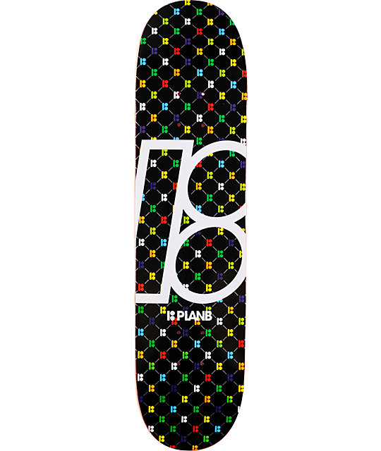 "Plan B Monogram 7.62""  Skateboard Deck"