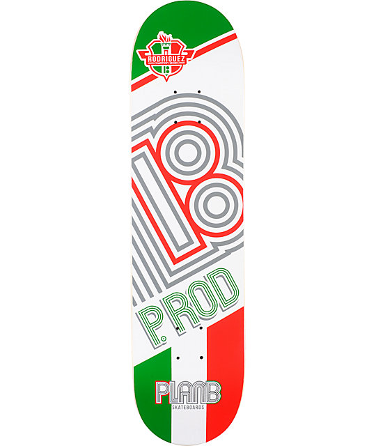 "Plan B P-Rod Champion 8.0""  Skateboard Deck"