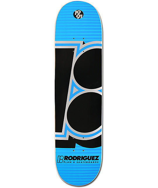 "Plan B Paul Rodriguez Swift 8.0""  Skateboard Deck"