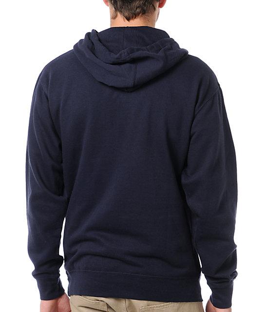 Plan B Pennant Navy Blue Pullover Hoodie | Zumiez