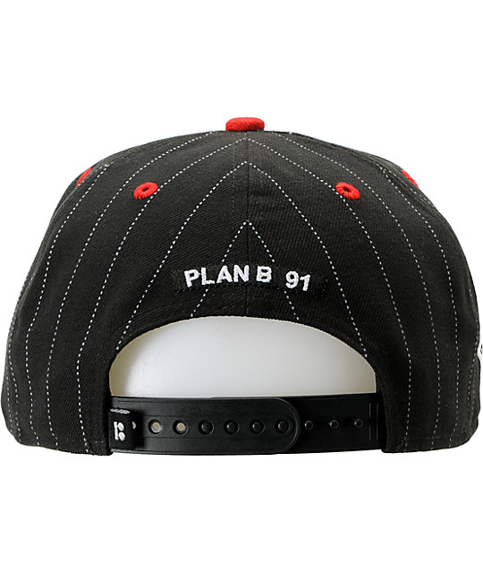 Plan B Pro Spec Black & Red New Era Snapback Hat