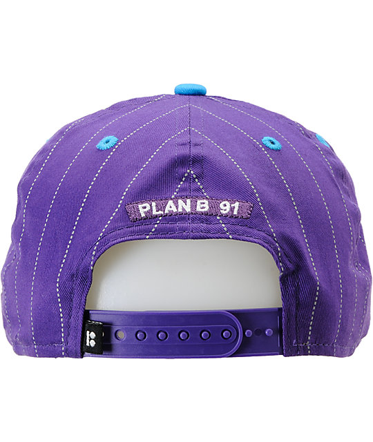 Plan B Pro Spec Purple & Cyan New Era Snapback Hat