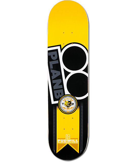 "Plan B Pudwill Contest 8.0""  Skateboard Deck"