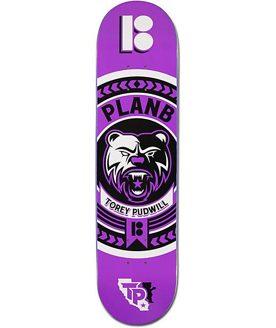 "Plan B Pudwill Crest 2 7.75""  Skateboard Deck"