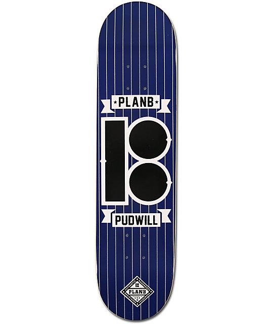 "Plan B Pudwill Pinstripe 7.75""  Skateboard Deck"