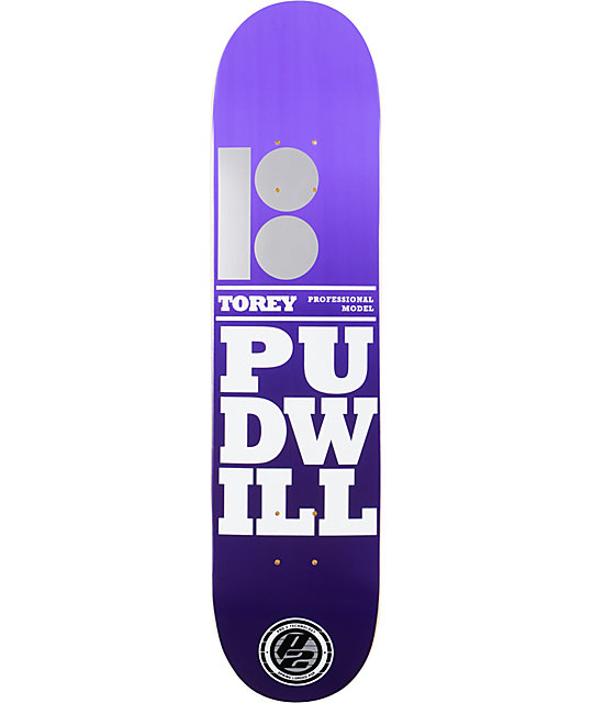 "Plan B Pudwill Stacked P2 7.5""  Skateboard Deck"
