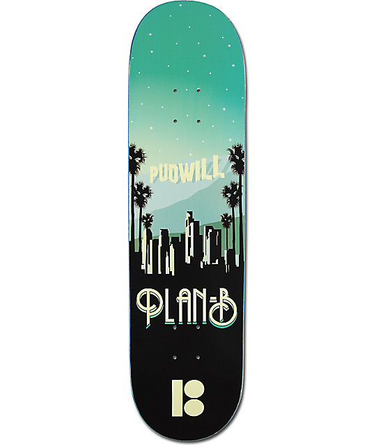 "Plan B Pudwill Traveler 8.125""  Skateboard Deck"