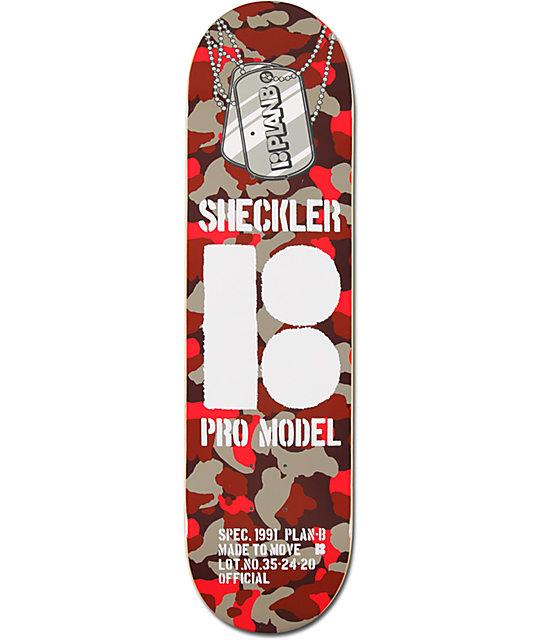 "Plan B Sheckler Camo 8.25""  Skateboard Deck"