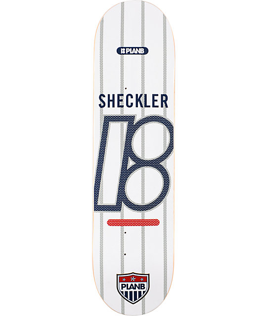 "Plan B Sheckler Club 8.0""  Skateboard Deck"