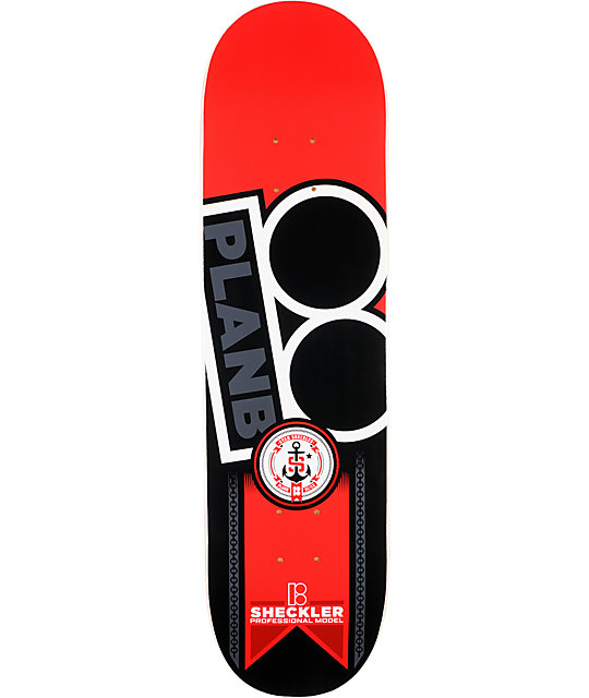 "Plan B Sheckler Contest 8.25""  Skateboard Deck"