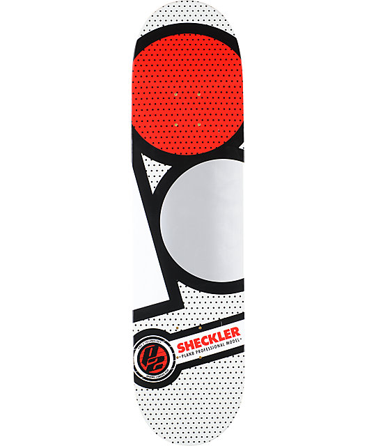 "Plan B Sheckler Graphite P2 8.125""  Skateboard Deck"