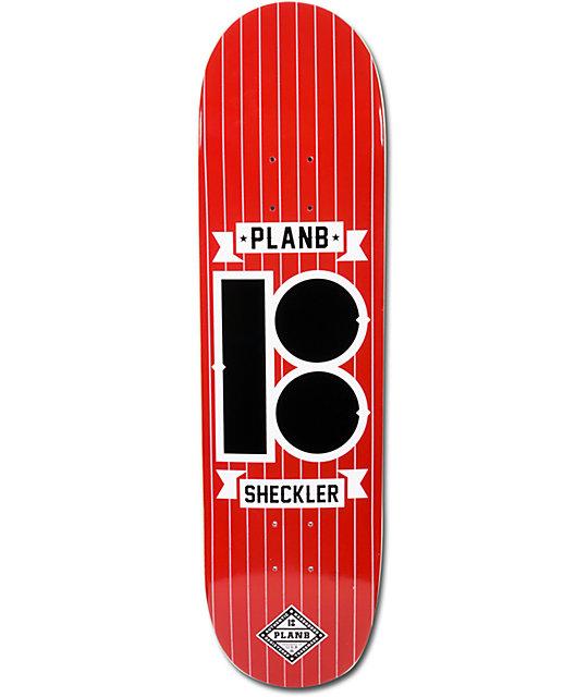 "Plan B Sheckler Pinstripe 8.25""  Skateboard Deck"