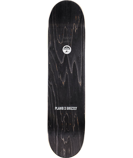 "Plan B T-Pud x Grizzly Grip 7.75""  Skateboard Deck"