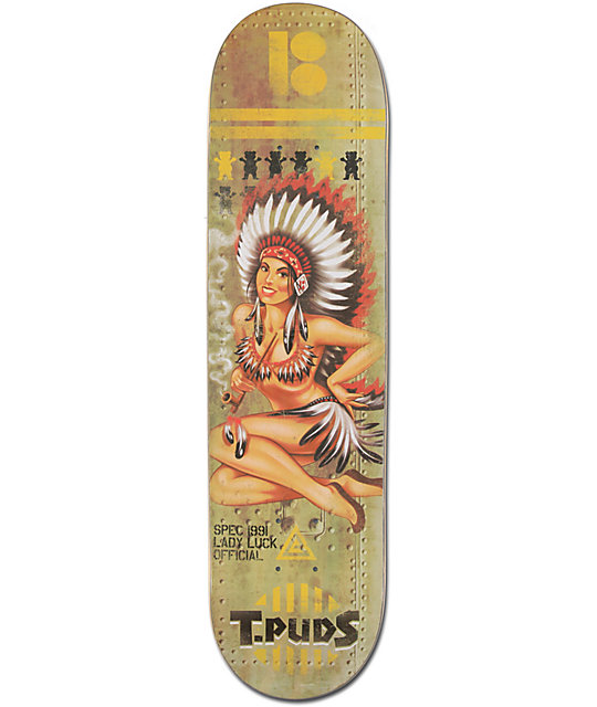"Plan B T-Puds Lady Luck 8.0""  Skateboard Deck"