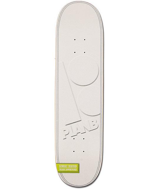 "Plan B Team Leather 8.0""  Skateboard Deck"