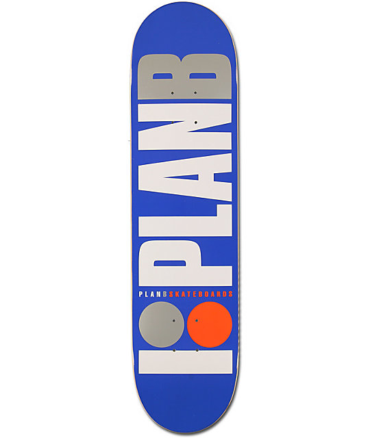 "Plan B Team OG 7.62""  Skateboard Deck"