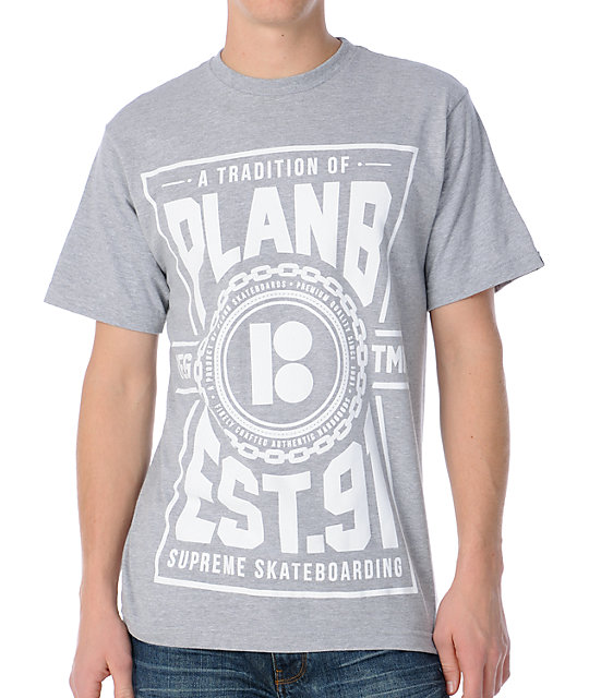 Plan B Trademark Grey T-Shirt