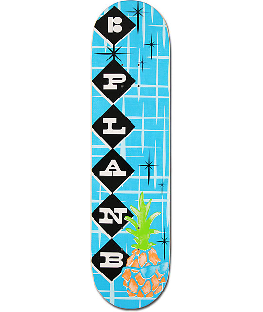 "Plan B x Zumiez Couch Tour 2013 Pineapple 8.0""  Skateboard Deck"