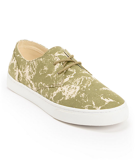 Pointer Chester Aloe Wave Print Canvas Shoes
