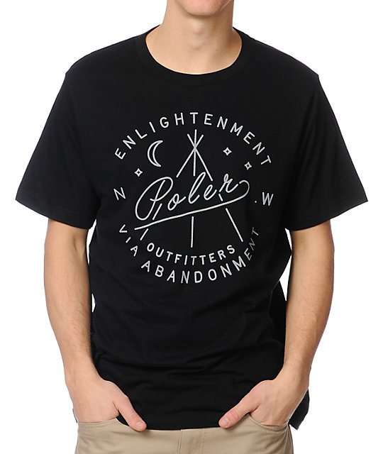Poler Enlightenment Black T-Shirt