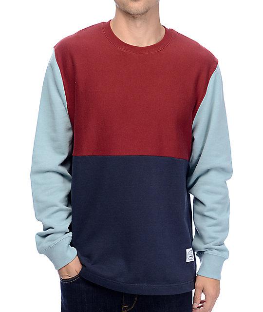 Fifty 50 Merlot, Navy & Blue Crew Neck Sweatshirt