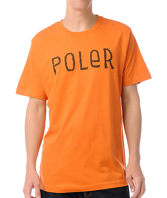 Poler Furry Font Orange T-Shirt