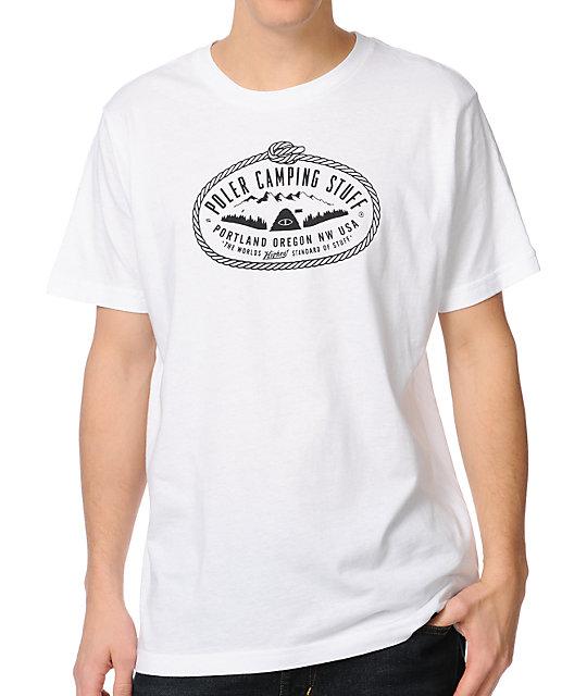 Poler Lasso White & Black T-Shirt