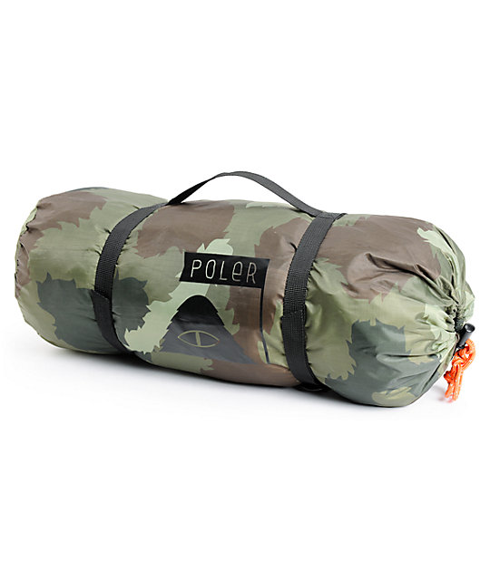 Poler One Man Green Camo Tent