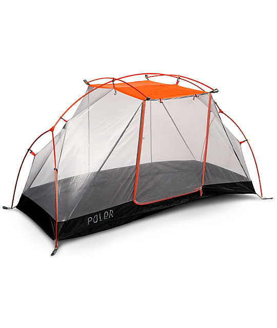 Poler One Man Orange & Grey Tent