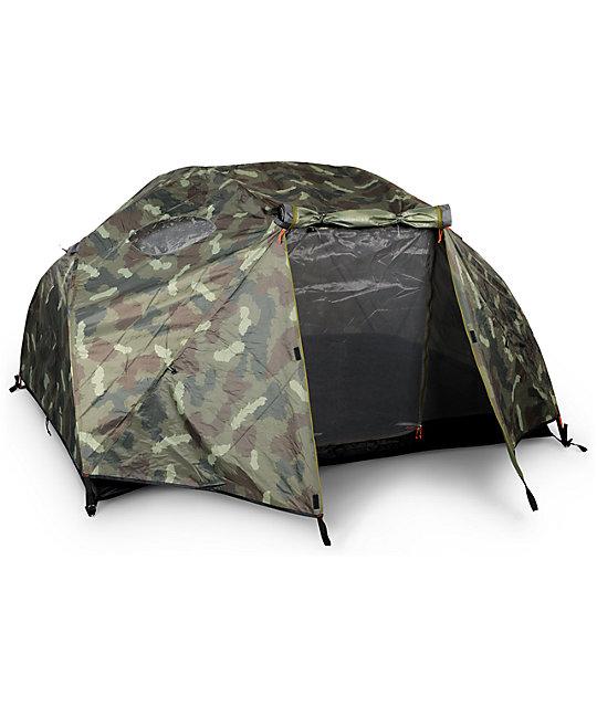 Poler Two Man Green Camo Tent