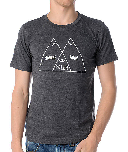 Poler Venn Diagram Charcoal T-Shirt