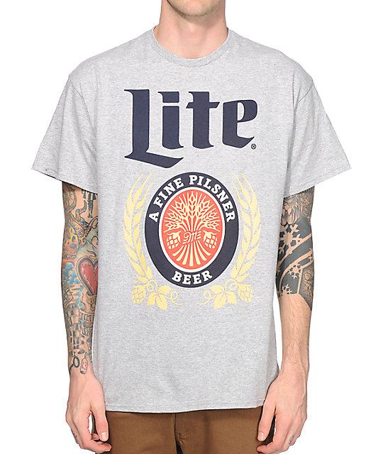 pop culture miller lite vintage logo t shirt at zumiez pdp