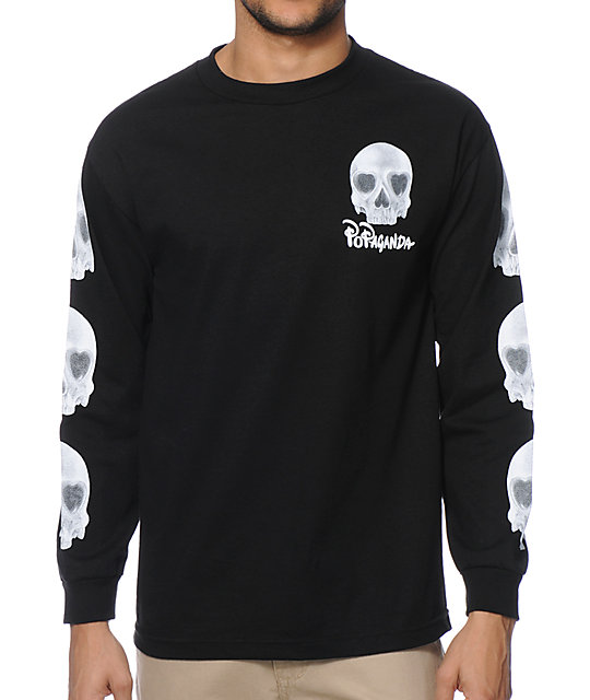 Popaganda Heart Skull Long Sleeve T-Shirt